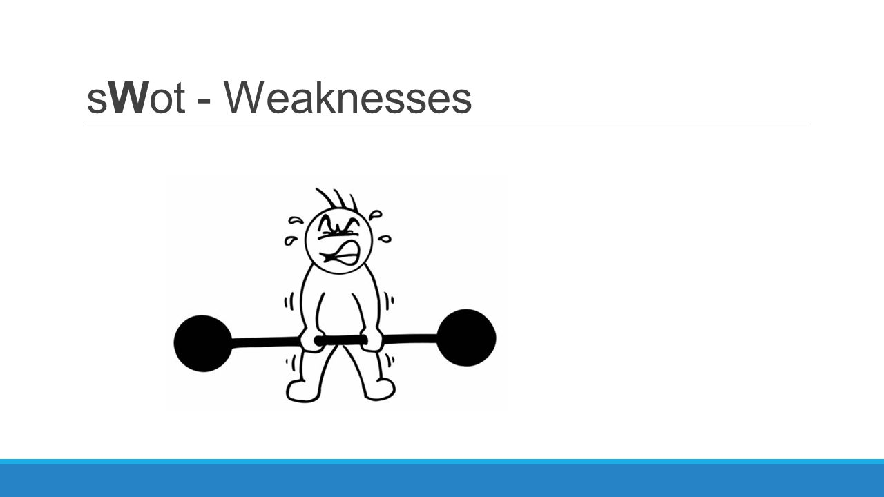 sWot - Weaknesses