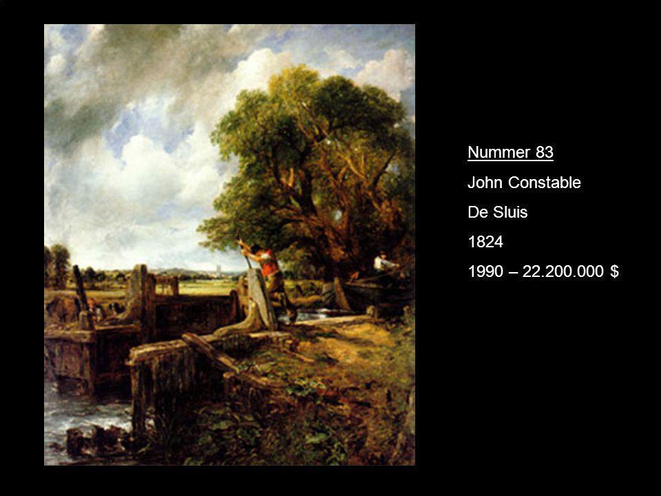 Nummer 83 John Constable De Sluis 1824 1990 – 22.200.000 $