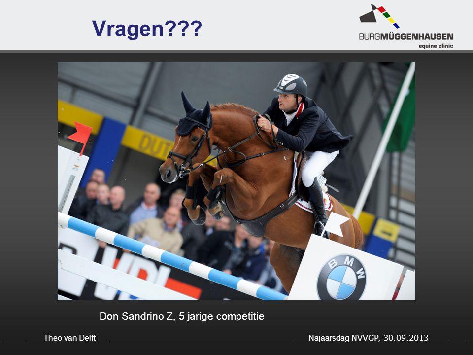 Theo van Delft Najaarsdag NVVGP, 30.09.2013 Vragen??? Don Sandrino Z, 5 jarige competitie