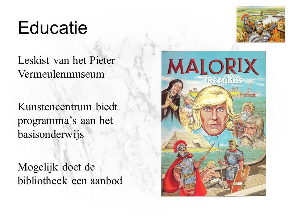 Educatie Leskist van het Pieter Vermeulenmuseum Kunstencentrum biedt programma's aan het basisonderwijs Mogelijk doet de bibliotheek een aanbod