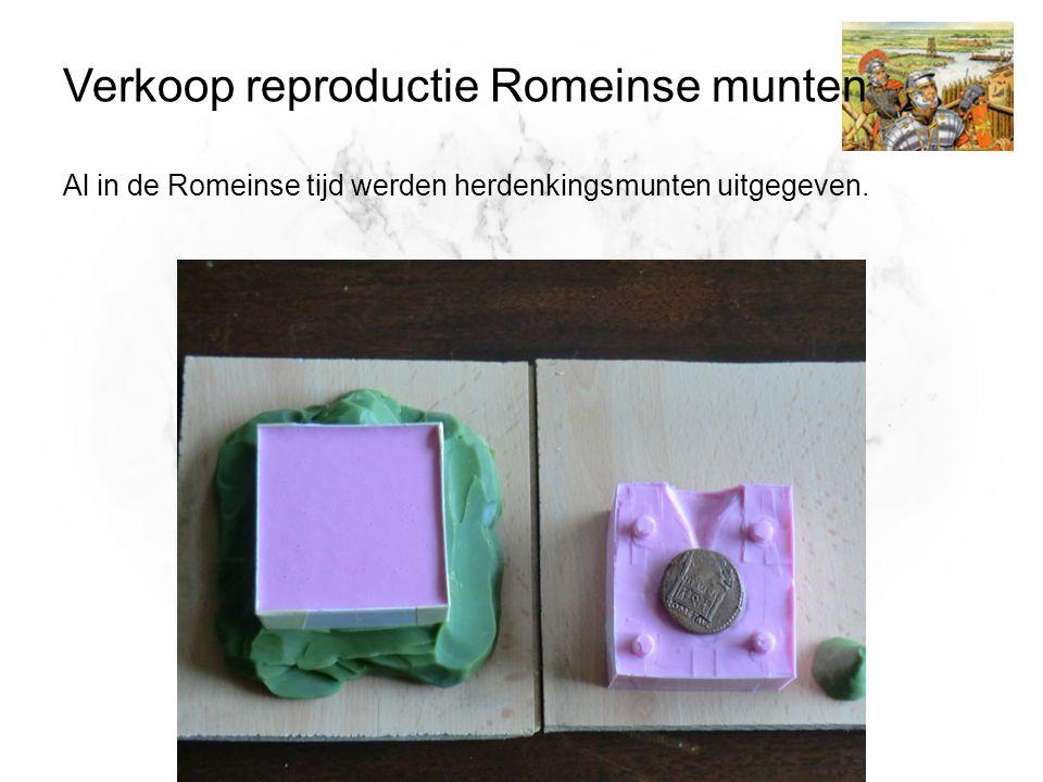 Verkoop reproductie Romeinse munten Al in de Romeinse tijd werden herdenkingsmunten uitgegeven.