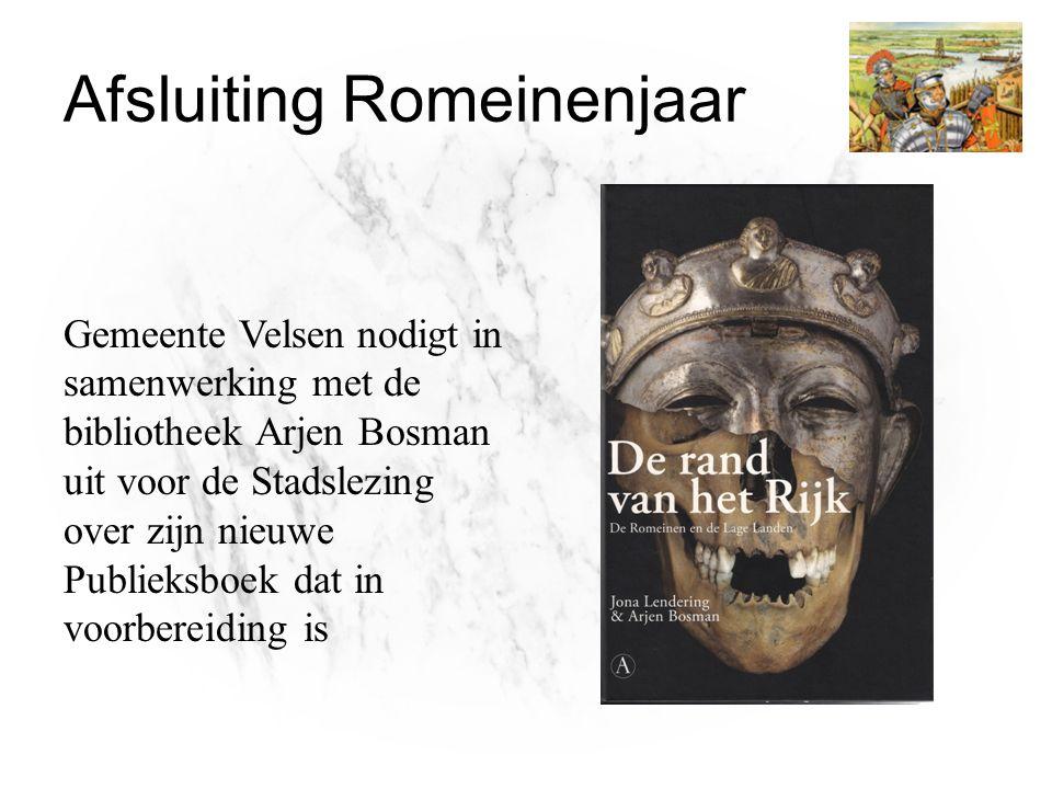 Gemeente Velsen nodigt in samenwerking met de bibliotheek Arjen Bosman uit voor de Stadslezing over zijn nieuwe Publieksboek dat in voorbereiding is A