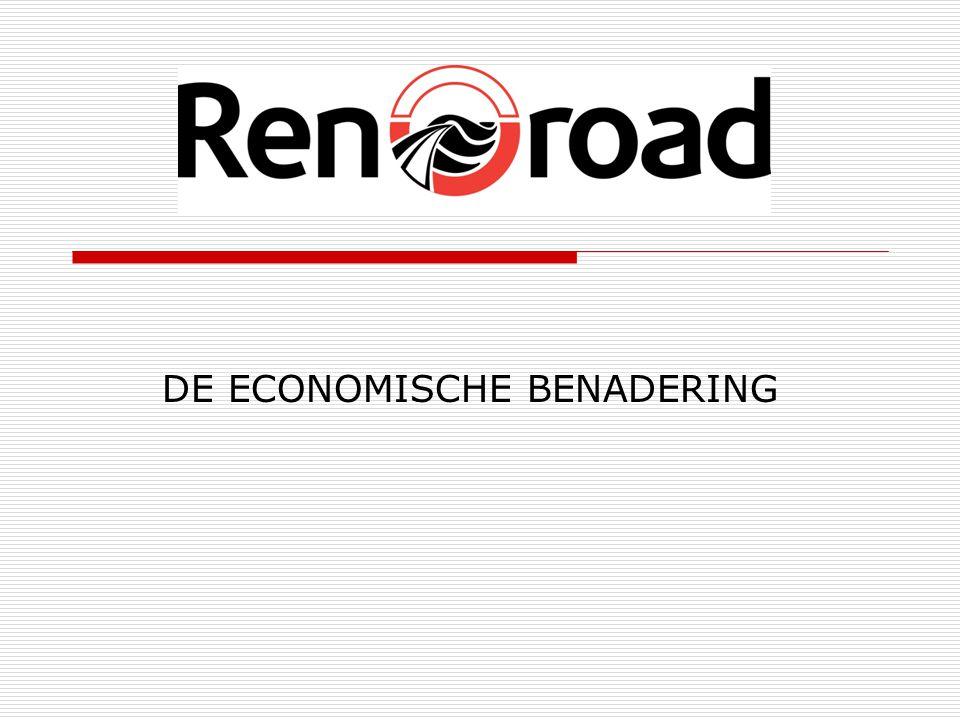 KEUZE VAN ONDERHOUD  Het onderhoud van uw wegen stelt de veel duurdere optie van verwijderen (uitbreken/ frezen) en herplaatsen (asfalteren) met aanzienlijke tijd uit  Goedkoper, en ook geen verkommering van de wegen meer  Door de regelmaat van interventie, handhaaft u de uitstekende staat van uw wegennet