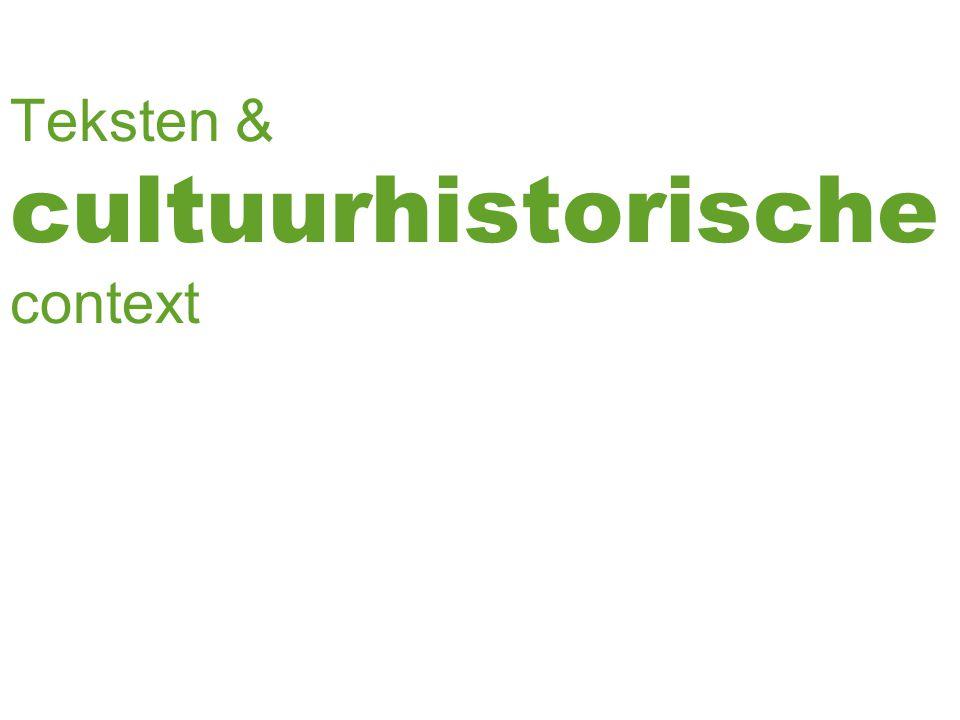 New Historicism Literatuur reflecteert, weerspiegelt Én ageert, beïnvloed