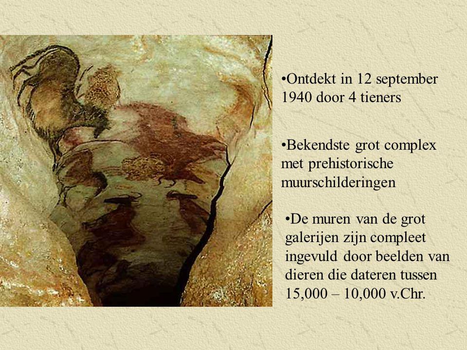 Ontdekt in 12 september 1940 door 4 tieners Bekendste grot complex met prehistorische muurschilderingen De muren van de grot galerijen zijn compleet i