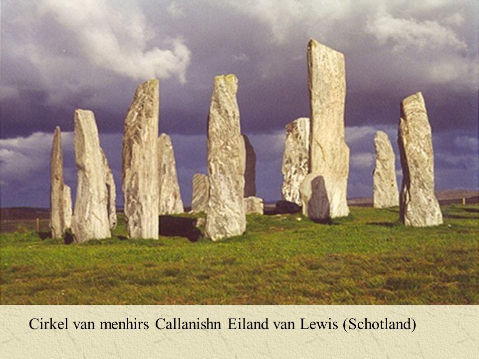 Cirkel van menhirs Callanishn Eiland van Lewis (Schotland)