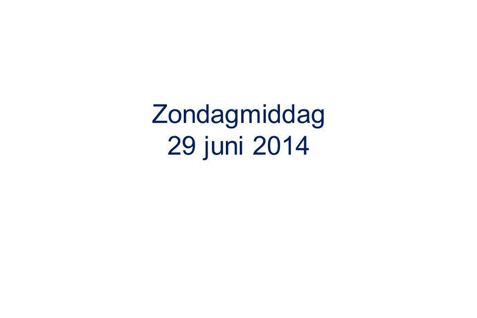 Zondagmiddag 29 juni 2014