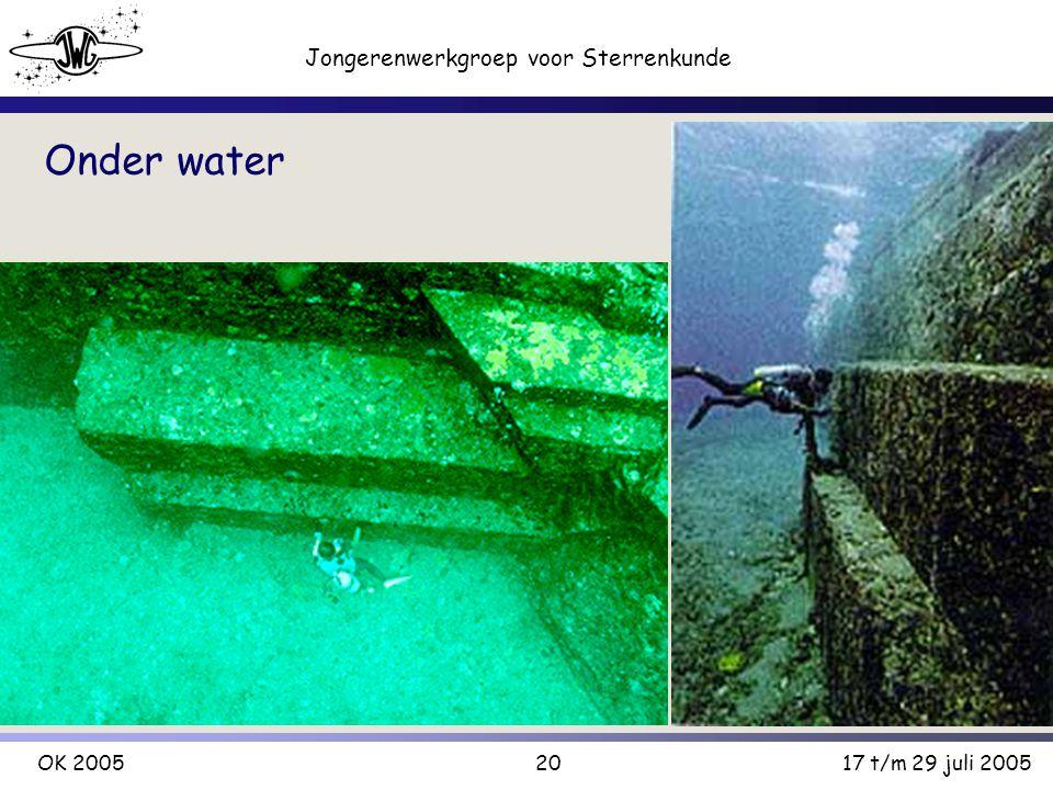 20 Jongerenwerkgroep voor Sterrenkunde OK 200517 t/m 29 juli 2005 Onder water