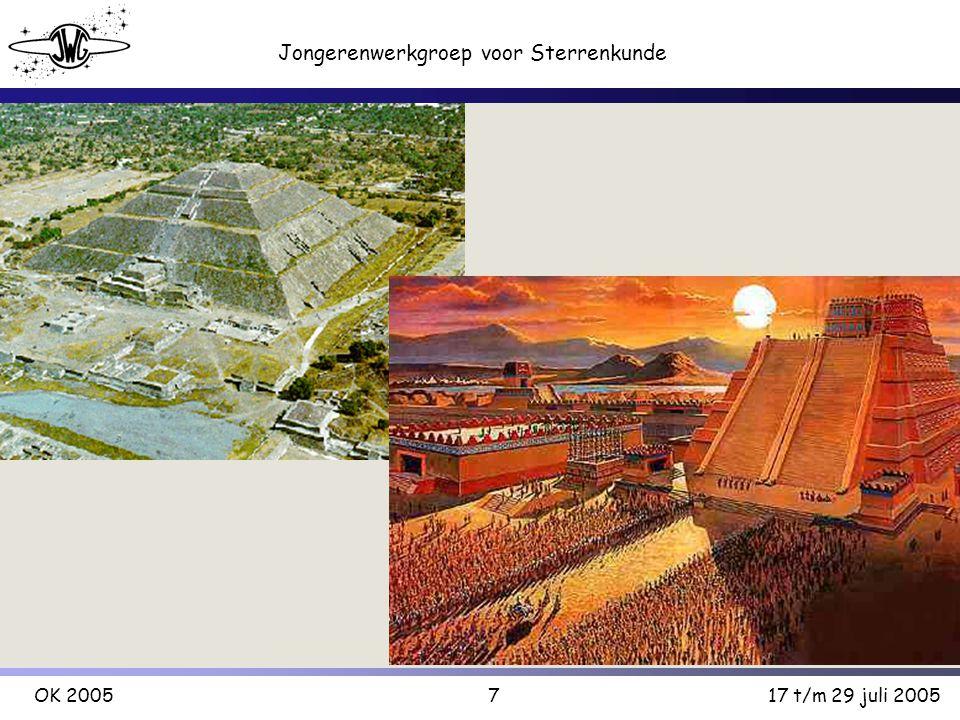18 Jongerenwerkgroep voor Sterrenkunde OK 200517 t/m 29 juli 2005 Indonesie Enige in Zuidoost-Azië Lijkt veel op bepaalde pyramides in Zuid- Amerika Er is ook een slangengod met 2 hoofden