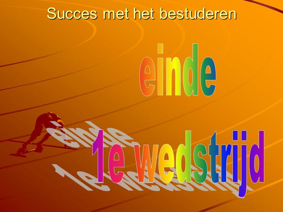 Succes met het bestuderen