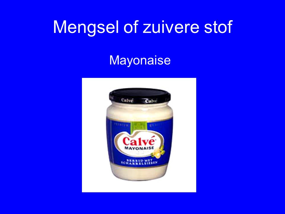 Quiz Zuivere stof of mengsel