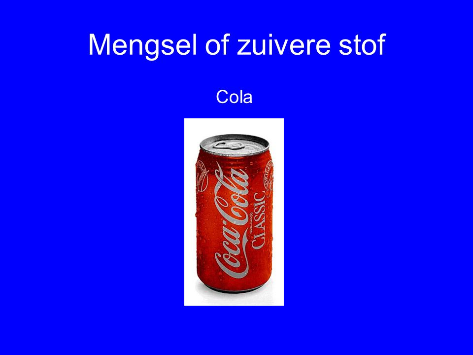 Mengsel of zuivere stof Pak Zout