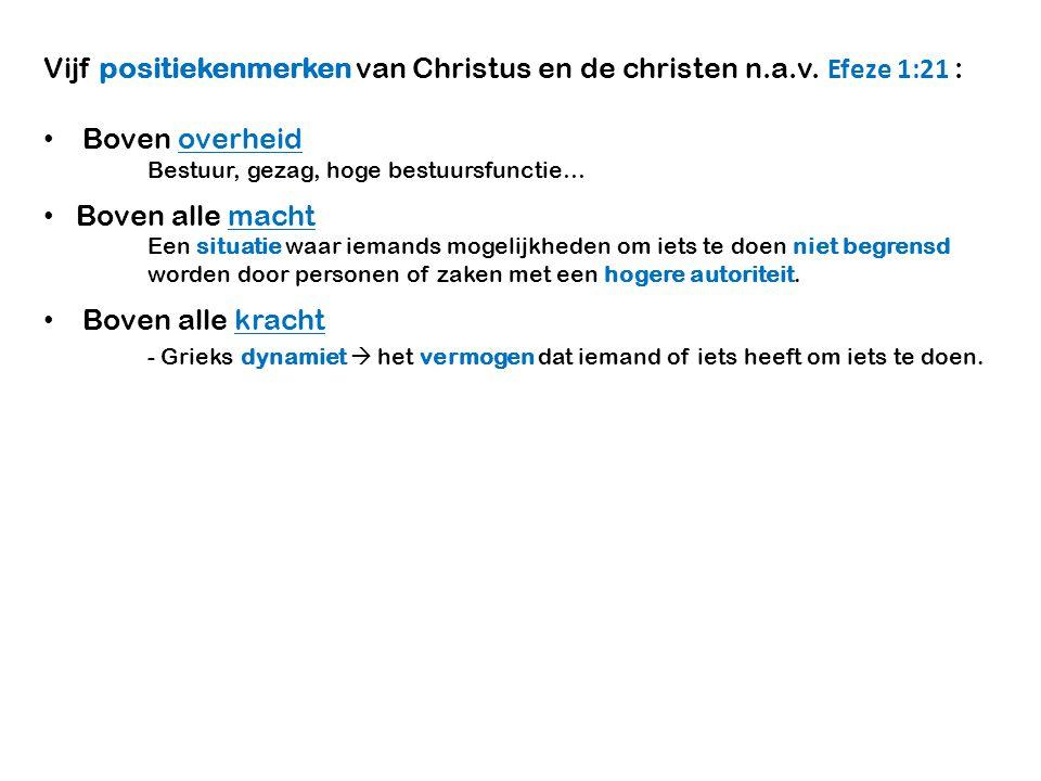 Vijf positiekenmerken van Christus en de christen n.a.v.