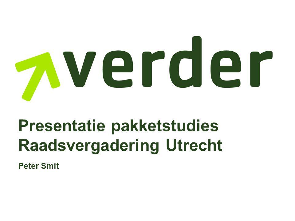 Presentatie pakketstudies Raadsvergadering Utrecht Peter Smit