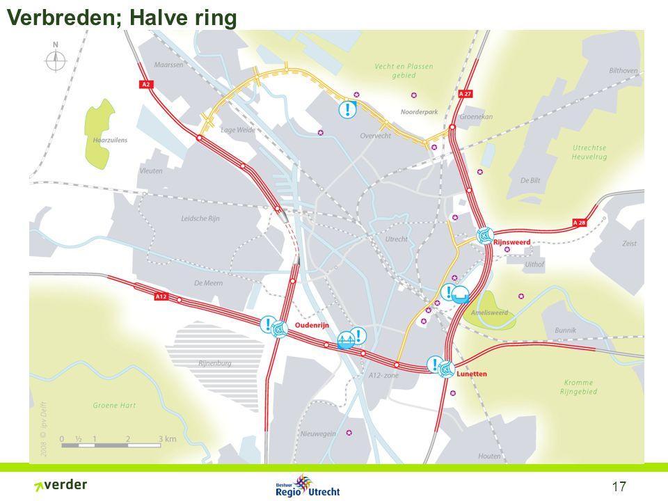 17 Verbreden; Halve ring