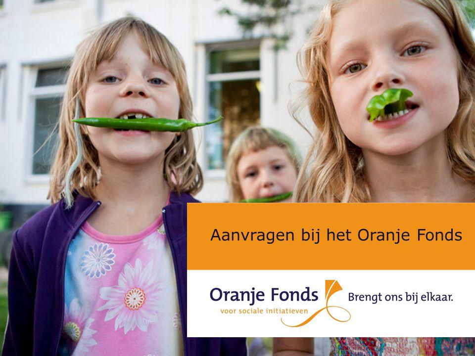 Aanvragen bij het Oranje Fonds