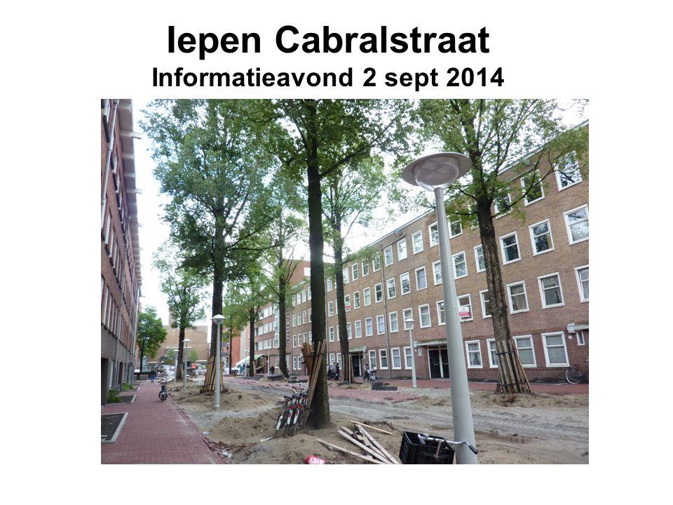 Iepen Cabralstraat Informatieavond 2 sept 2014