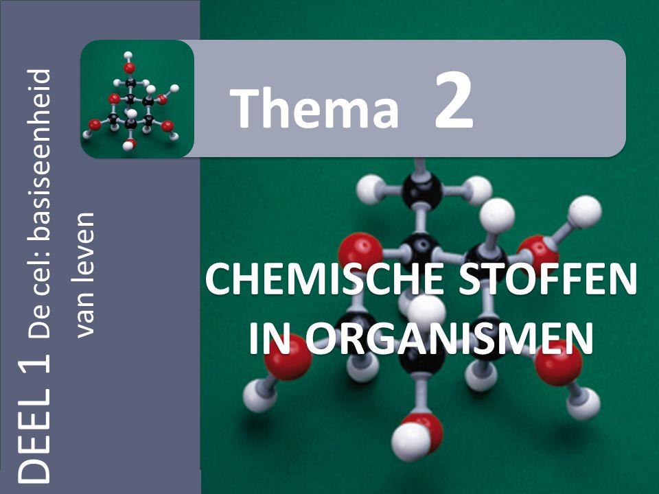 DEEL 1 De cel: basiseenheid van leven CHEMISCHE STOFFEN IN ORGANISMEN Thema 2