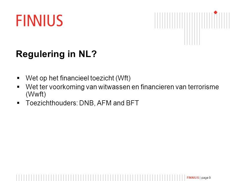 FINNIUS | page 9 Regulering in NL.