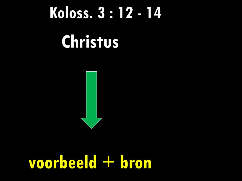 Koloss. 3 : 12 - 14 Christus voorbeeld + bron