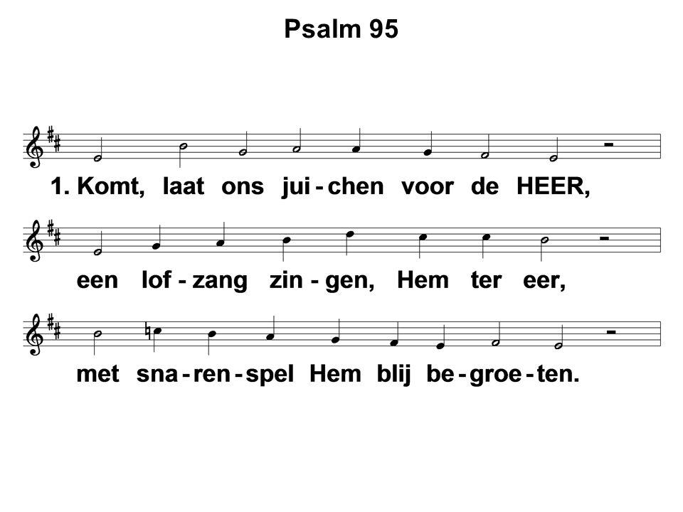  Moment van stilte  Votum en zegengroet  Psalm 95 : 1, 3  Lezing van de wet  Gezang 11  Gezang 11  Gebed  Doop: Aaron Jacob Veenstra  Lezen: Kolossenzen 3 : 1 – 17  Liedboek 481  Liedboek 481  Preek: Kolossenzen 3 : 12 – 14  Psalm 133  Psalm 133  Gebed  Collecten  Gezang 133 : 3, 4, 5  Zegen