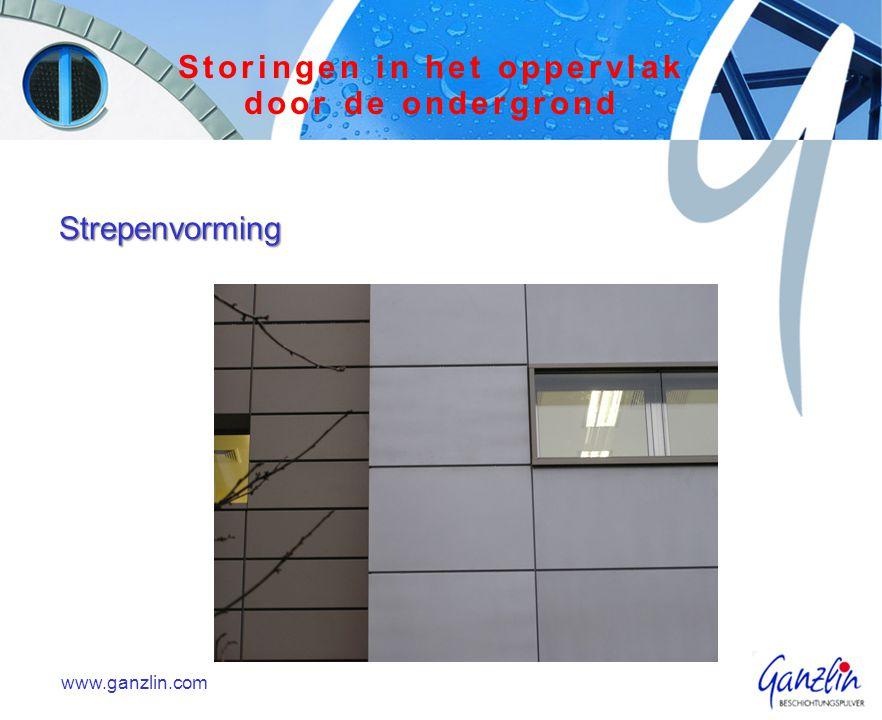 Strepenvorming www.ganzlin.com Storingen in het oppervlak door de ondergrond