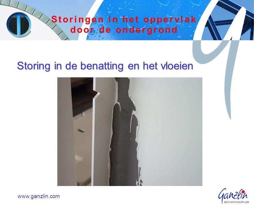 Storing in de benatting en het vloeien www.ganzlin.com Storingen in het oppervlak door de ondergrond