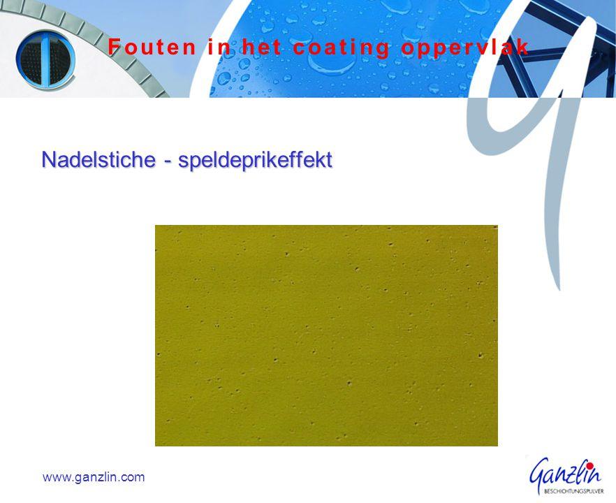 Nadelstiche - speldeprikeffekt www.ganzlin.com Fouten in het coating oppervlak