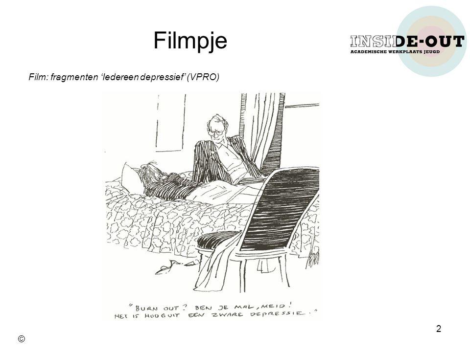 Film: fragmenten 'Iedereen depressief' (VPRO) Filmpje 2 ©