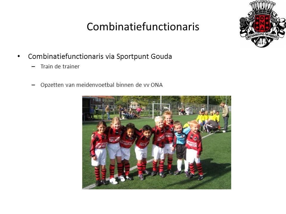 Combinatiefunctionaris Combinatiefunctionaris via Sportpunt Gouda – Train de trainer – Opzetten van meidenvoetbal binnen de vv ONA