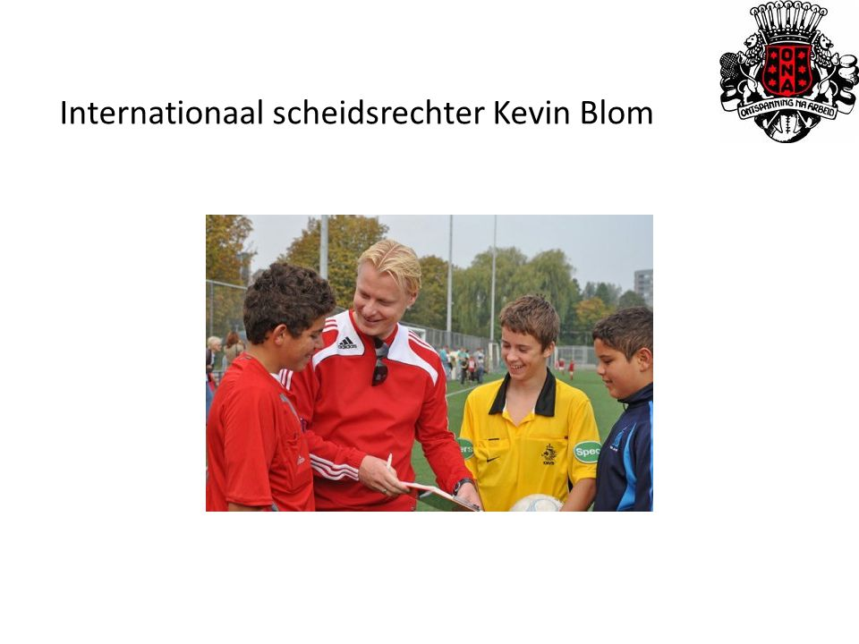 Internationaal scheidsrechter Kevin Blom