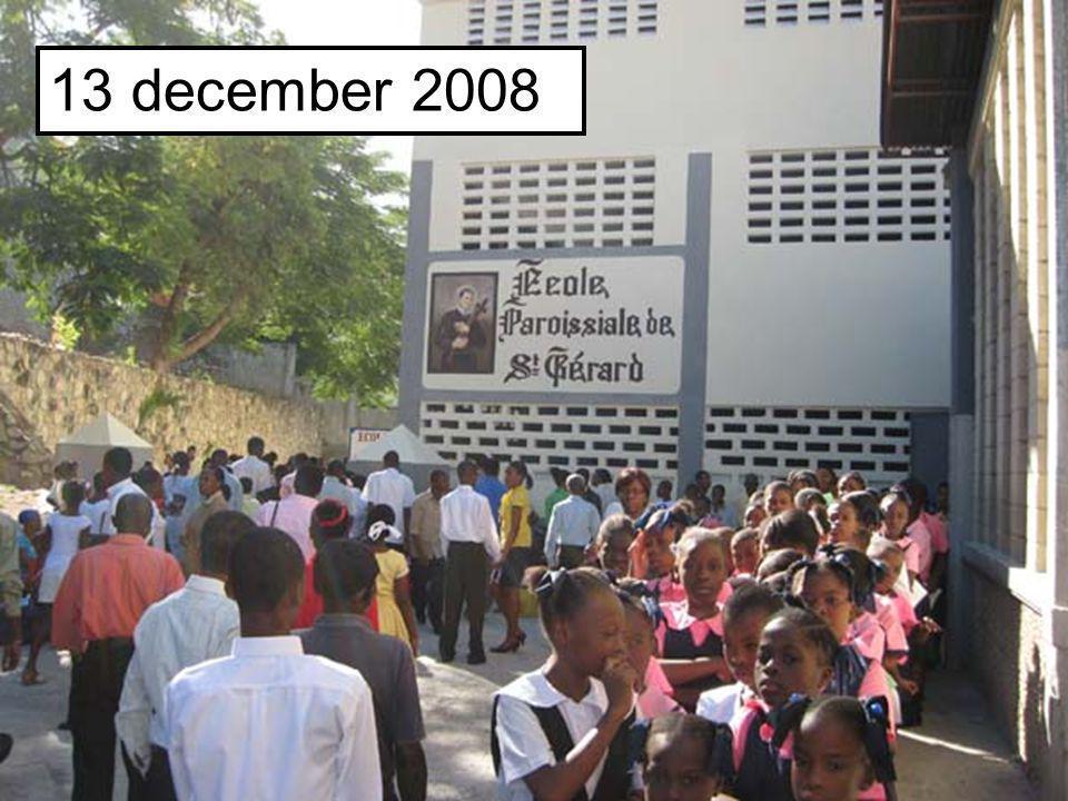 Beste, Twee jaar geleden werd er in Port-au- prince te Haïti, een nieuwe school gebouwd voor 300 leerlingen. Dit dankzij de steun van de Redemptoriste