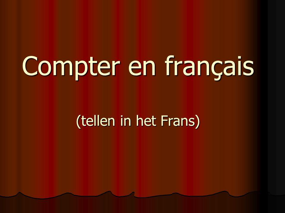 Compter en français (tellen in het Frans)