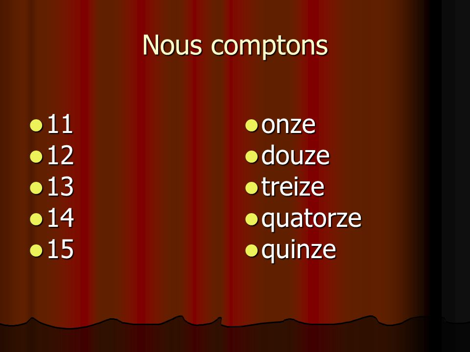 Zeg het getal in het Frans. 18 18 dix-huit dix-huit