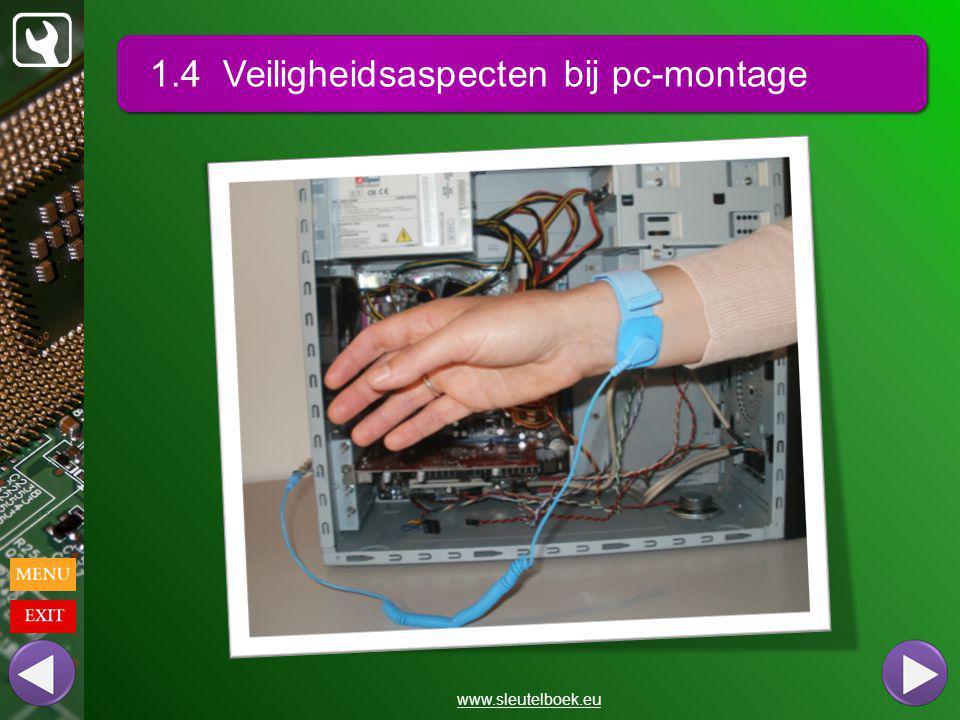 1.4 Veiligheidsaspecten bij pc-montage www.sleutelboek.eu