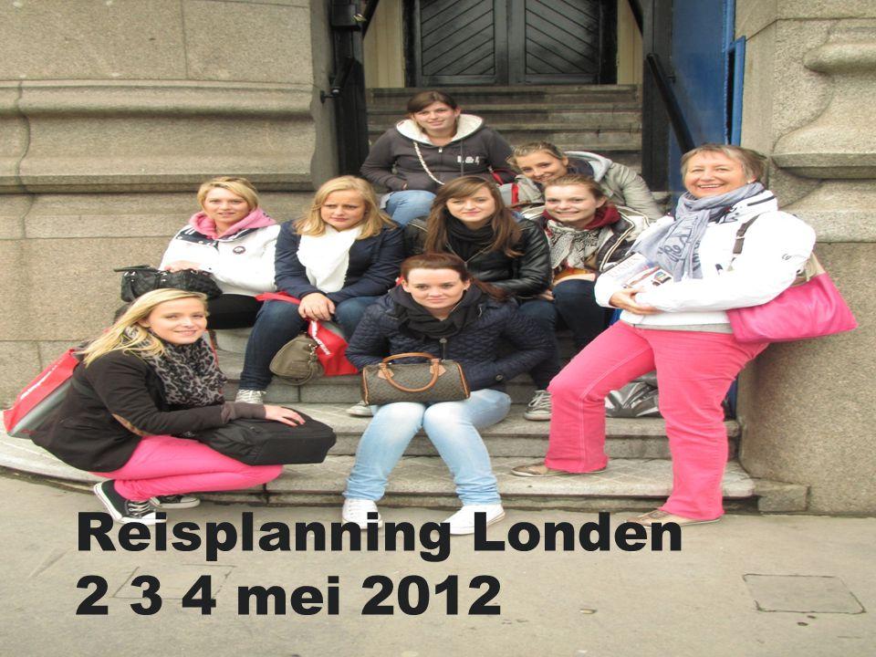 Reisplanning Londen 2 3 4 mei 2012