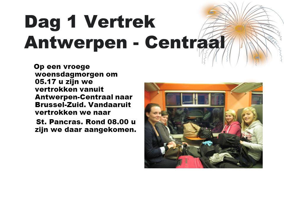 Dag 1 Vertrek Antwerpen - Centraal Op een vroege woensdagmorgen om 05.17 u zijn we vertrokken vanuit Antwerpen-Centraal naar Brussel-Zuid. Vandaaruit