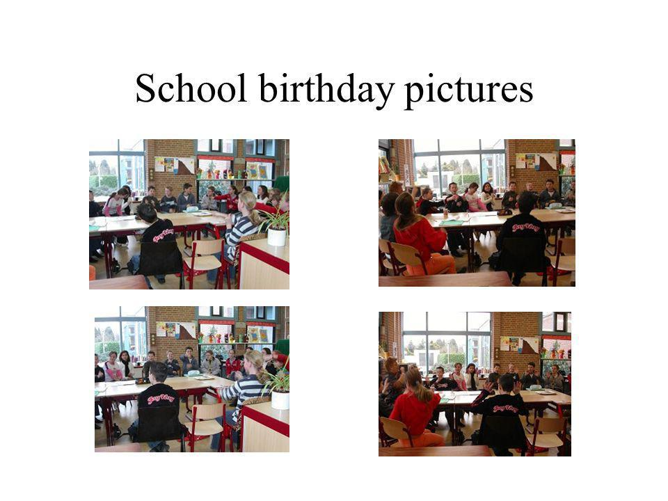 School birthday pictures