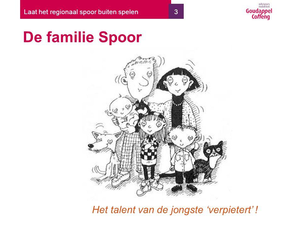 3 De familie Spoor Laat het regionaal spoor buiten spelen Het talent van de jongste 'verpietert' !