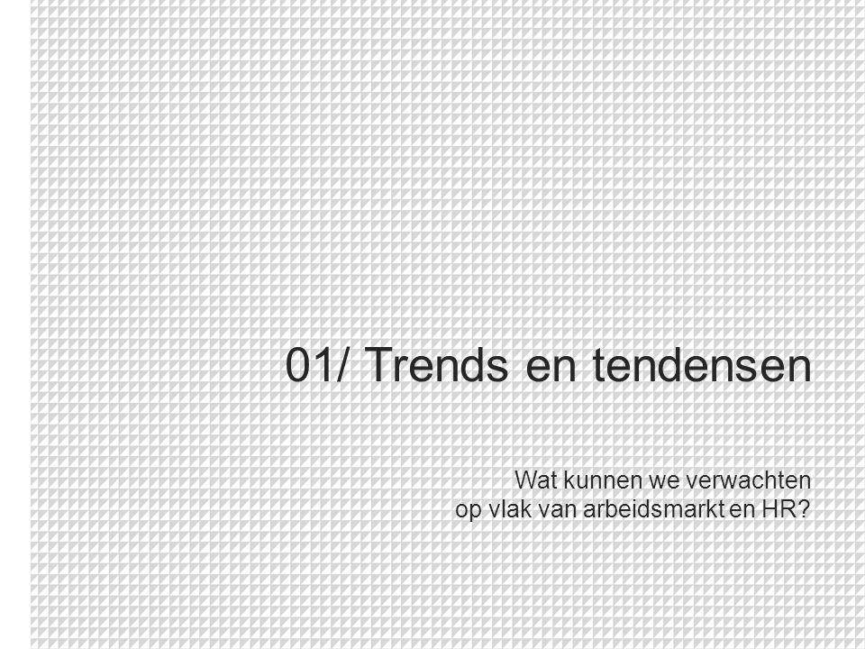 01/ Trends en tendensen Wat kunnen we verwachten op vlak van arbeidsmarkt en HR