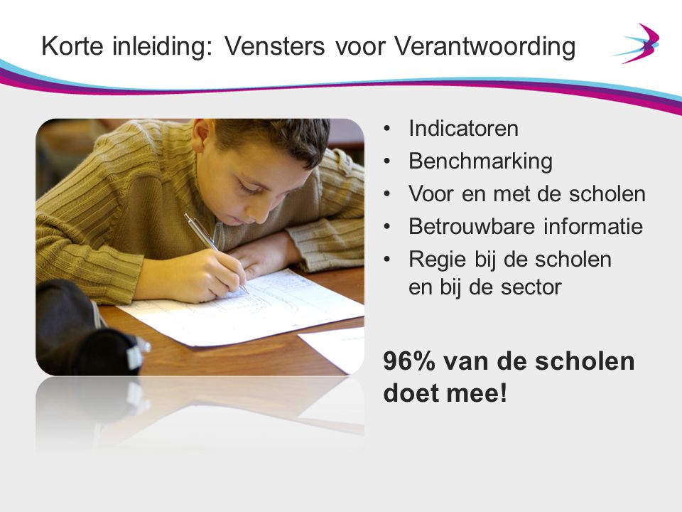Profiel(34 woorden) Het VenstersCollege is een kleine school.