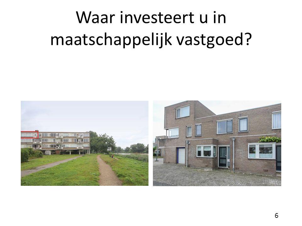 Waar investeert u in maatschappelijk vastgoed? 6