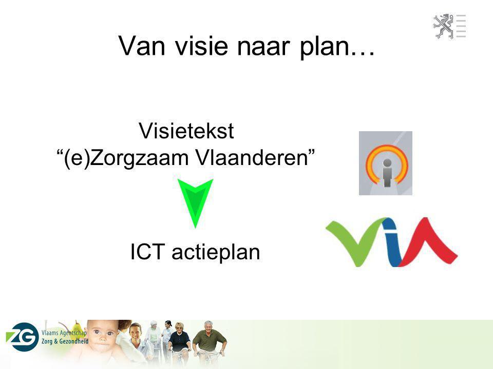 """Van visie naar plan… Visietekst """"(e)Zorgzaam Vlaanderen"""" ICT actieplan"""