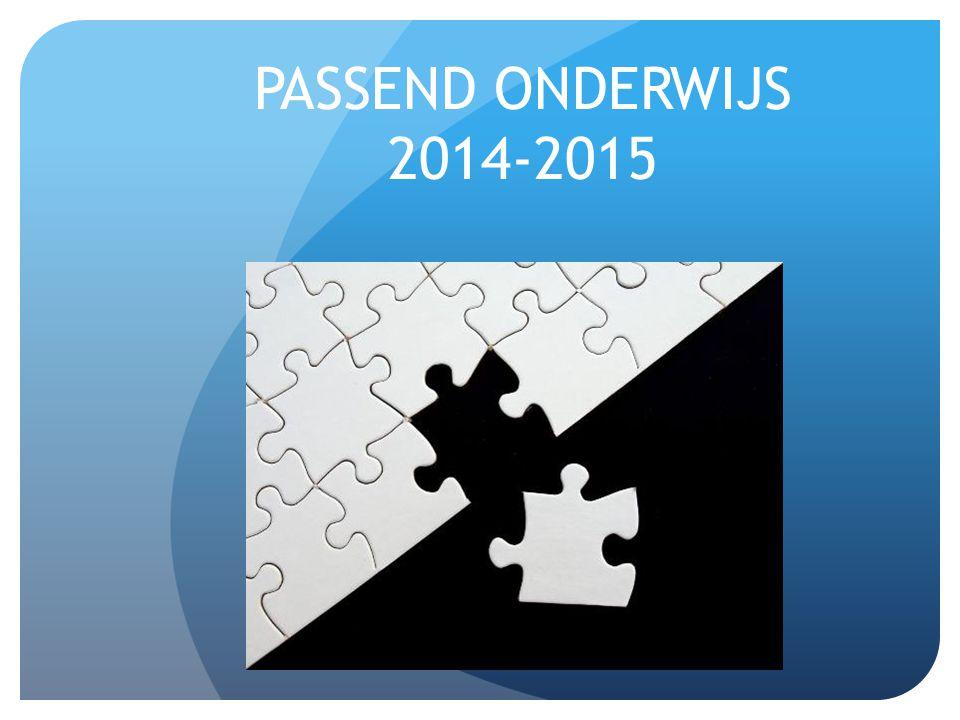 PASSEND ONDERWIJS 2014-2015