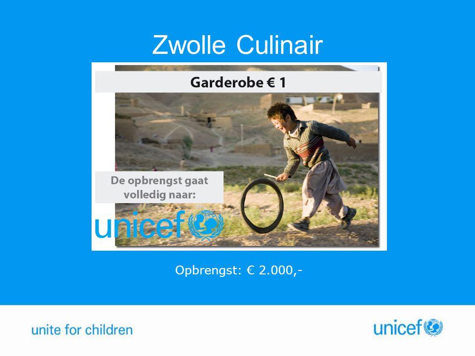 Zwolle Culinair Opbrengst: € 2.000,-