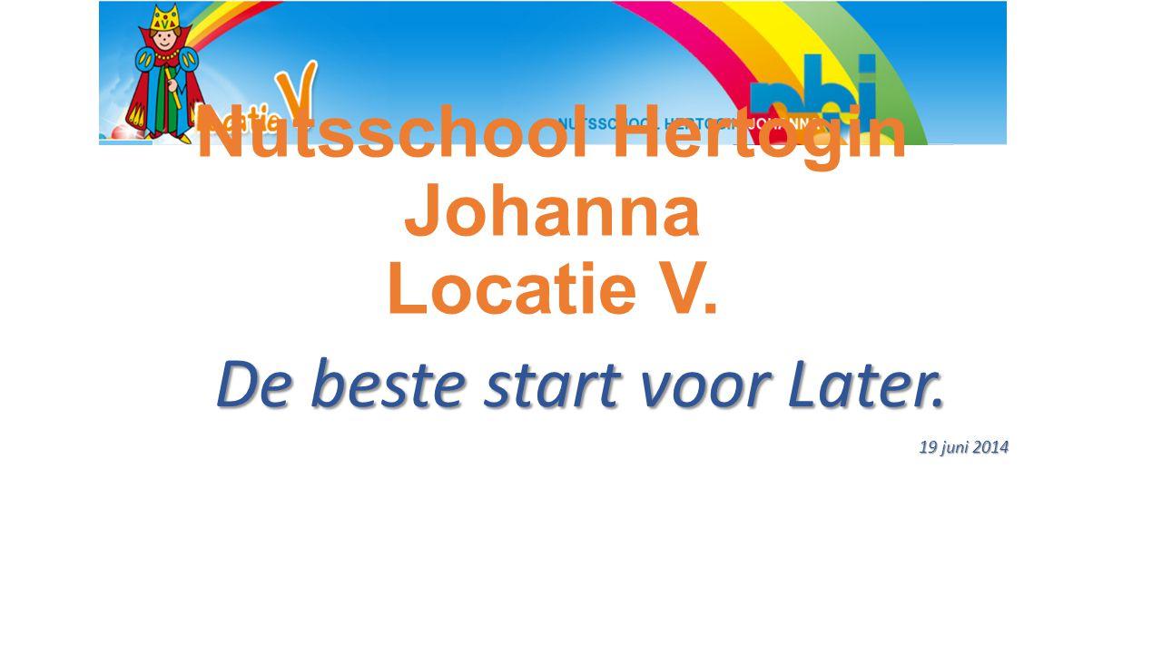 Nutsschool Hertogin Johanna Locatie V. De beste start voor Later. 19 juni 2014