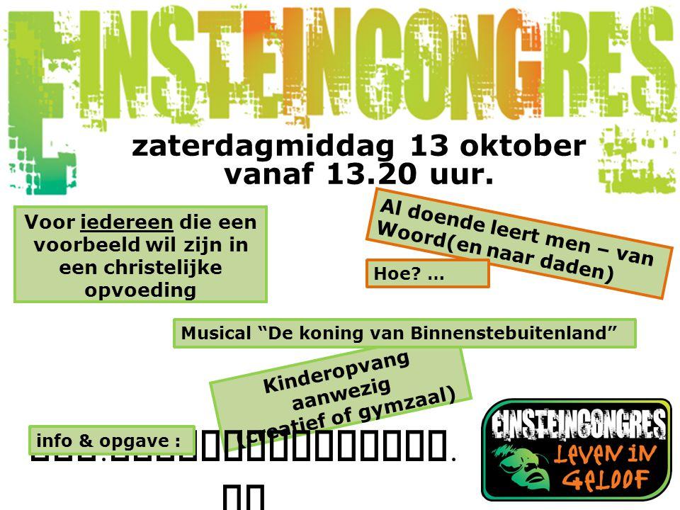 Kinderopvang aanwezig (creatief of gymzaal) www.einsteincongres.