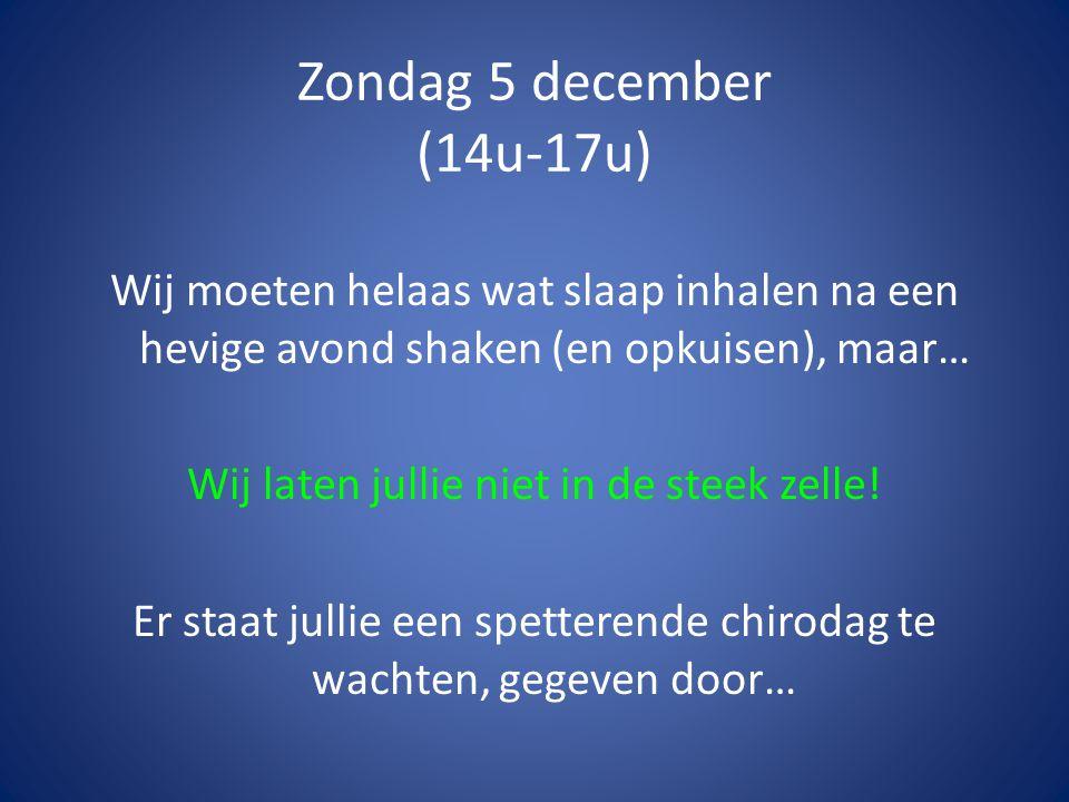 Zaterdag 4 december