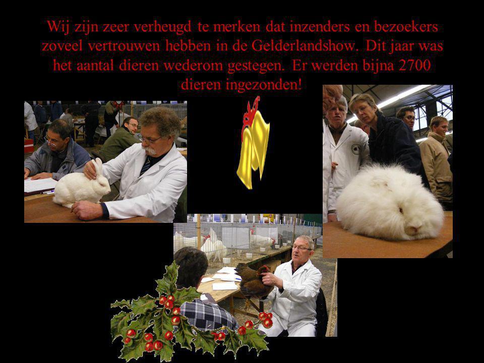 Wij zijn zeer verheugd te merken dat inzenders en bezoekers zoveel vertrouwen hebben in de Gelderlandshow.