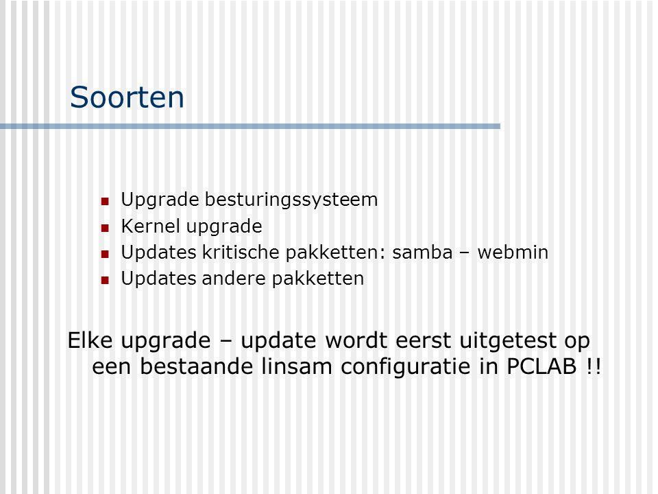 RedHat upgrade Upgrade besturingssysteem Maximaal om de 18 maanden Ofwel upgrade bestaand systeem Ofwel volledig nieuwe installatie